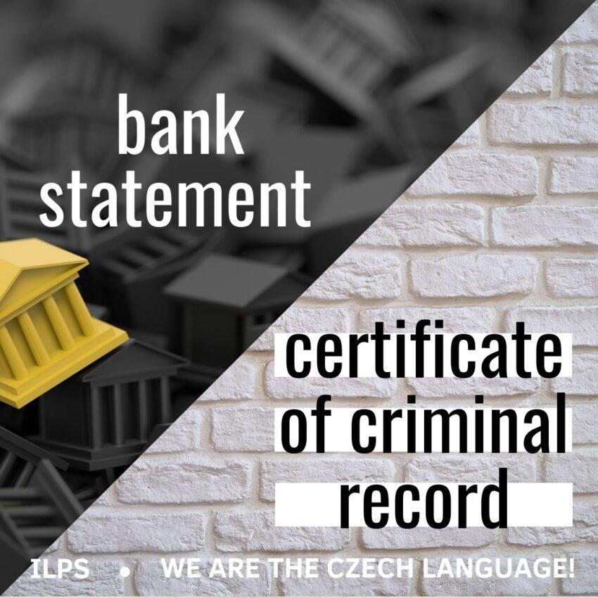 bank statement criminal record